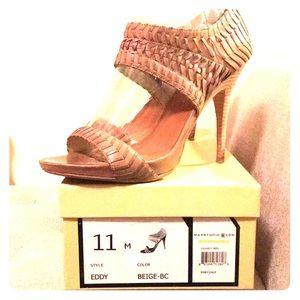 "Max Studio Beige ""Eddy"" Stiletto Sandals"